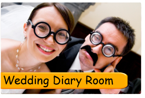 Film your own wedding ...diary room